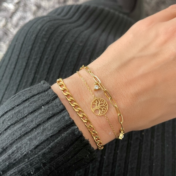 Made by Mila | Armband tree of life goud- Go Dutch label 2