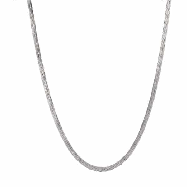 Made by Mila | Ketting snake zilver- Go Dutch Label 1