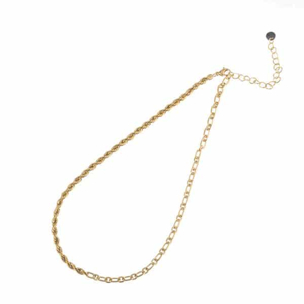 Made by Mila | Ketting schakel goud 2 schakels - Go Dutch Label 1