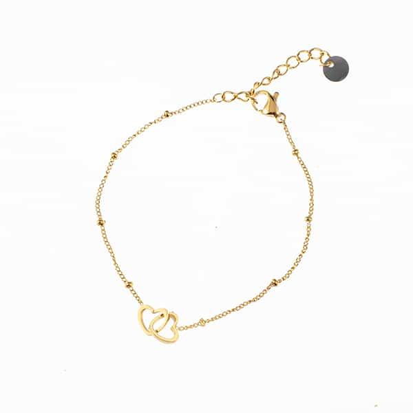 Made by Mila | Armband hearts goud- Go Dutch label 1