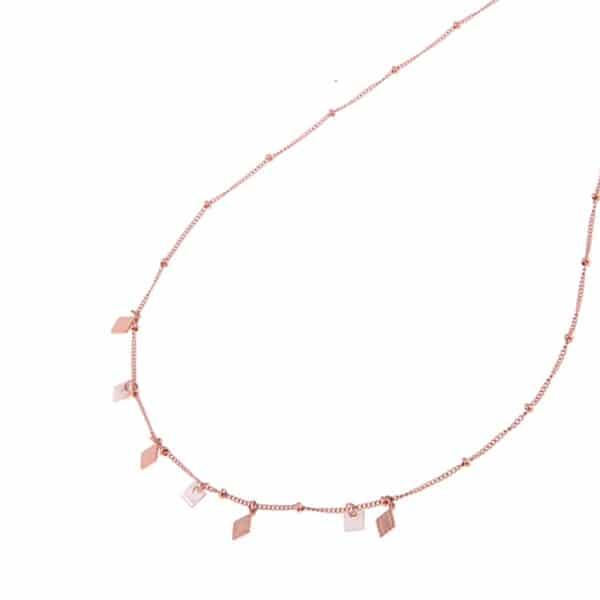 Made by Mila | Ketting schakel met twee verschillende hangers rose goud - Go Dutch Label 1