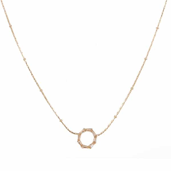 Made by Mila | Ketting kleine schakel goud met een cirkel - Go Dutch Label 1