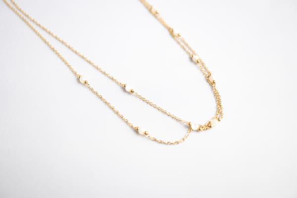Made by Mila | Ketting wit en goud - ZAG Bijoux 1