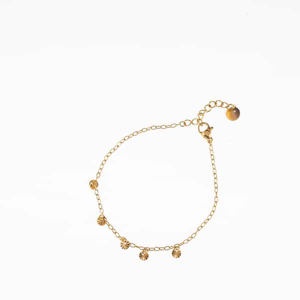 Made by Mila | Armband schakel coins goud- Go Dutch label 1