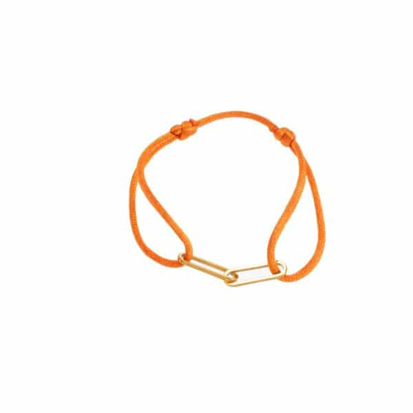 Made by Mila   Armband verstelbaar oranje goud schakel- Go Dutch Label 1