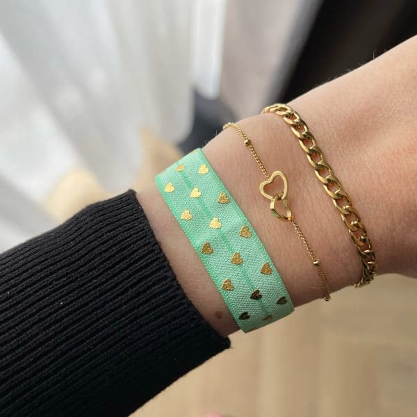 Made by Mila | Armband hearts goud- Go Dutch label 3