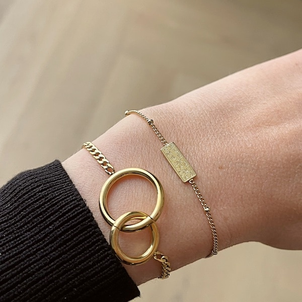 Made by Mila | Armband goud plaatje- Go Dutch label 3