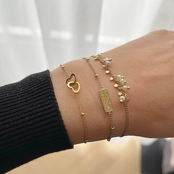 Made by Mila | Armband goud plaatje- Go Dutch label 2