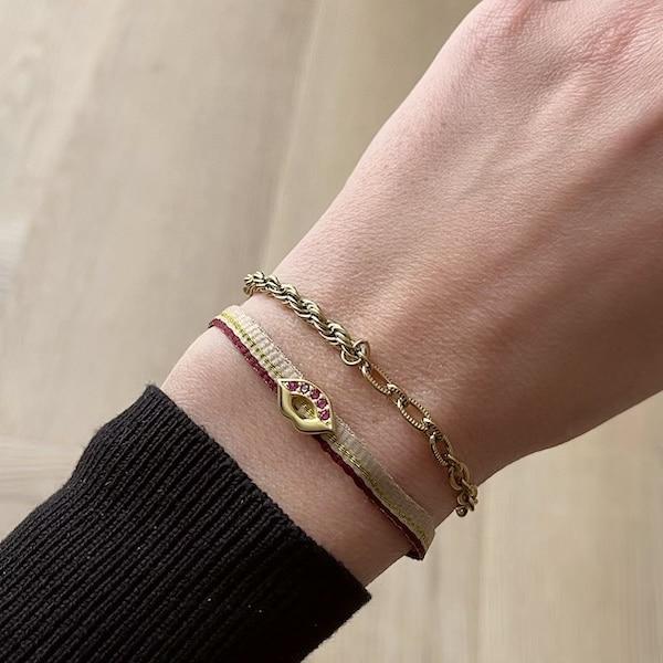 Made by Mila | Armband schakel goud 2 schakels - Go Dutch Label 2
