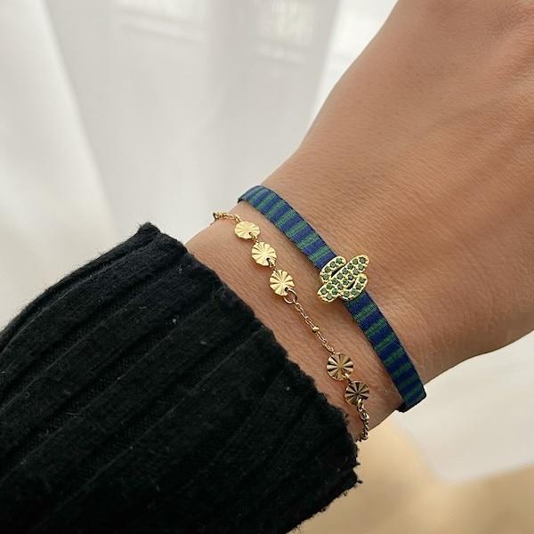 Made by Mila | Armband blue cactus- Go Dutch label 2