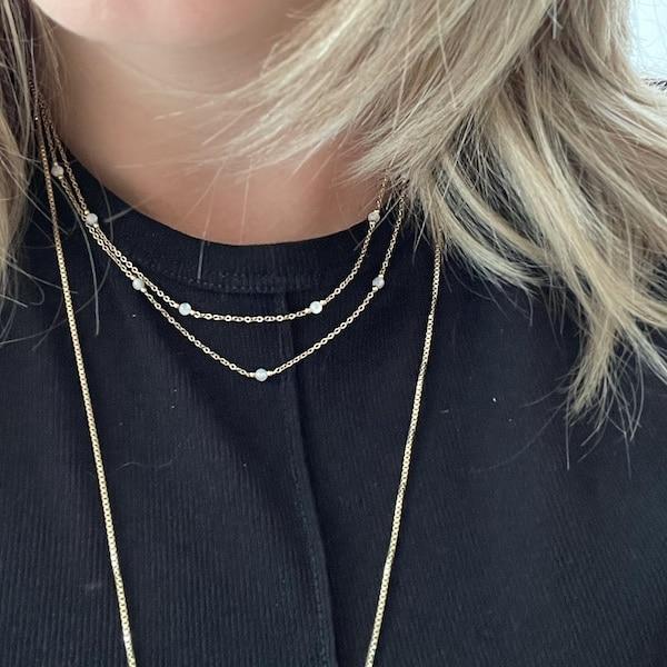 Made by Mila | Ketting wit en goud - ZAG Bijoux 2
