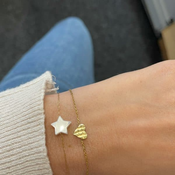 Made by Mila | Armband bewerkt hartje goud- Go Dutch label 2