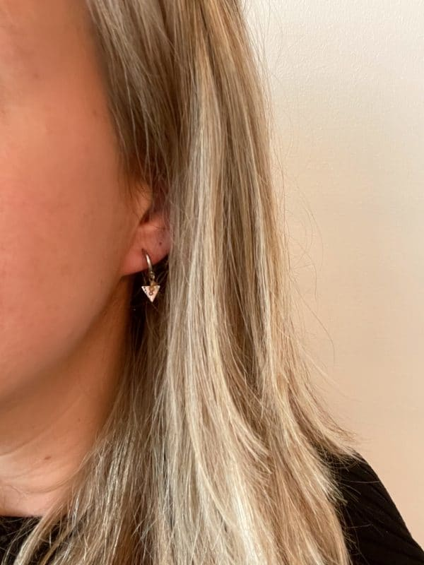 Made by Mila | Oorbellen hoops triangle & zilver - Go Dutch Label 2