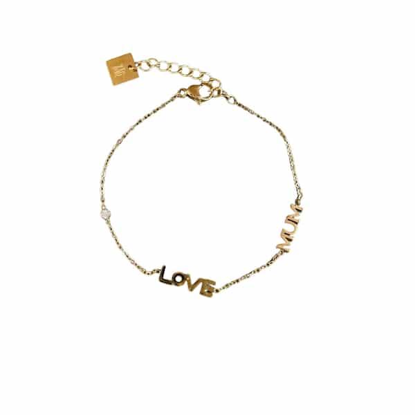 Made by Mila | Armband goud love mum- ZAG Bijoux 1