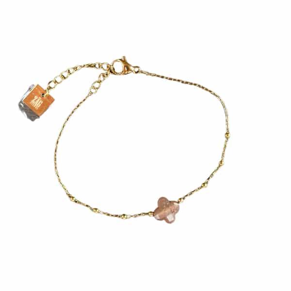 Made by Mila | Armband klaver roze - ZAG Bijoux 1