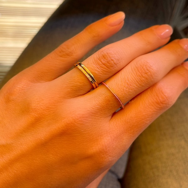 Made by Mila | Ring goud 'Extra precious' - Charmin's 2