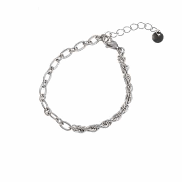 Made by Mila | Armband schakel zilver 2 schakels - Go Dutch Label 1