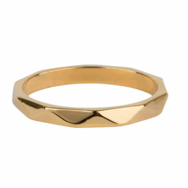 Made by Mila | Ring goud 'Hooked gold Steel' - Charmin's 1