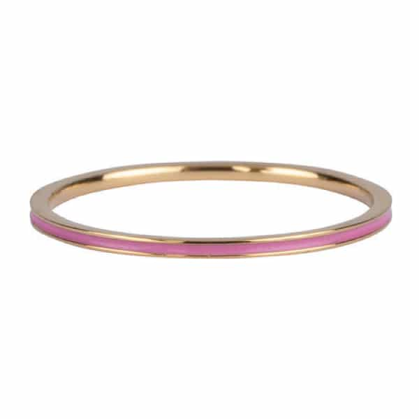 Made by Mila | Ring goud 'pink enamel' - Charmin's 1