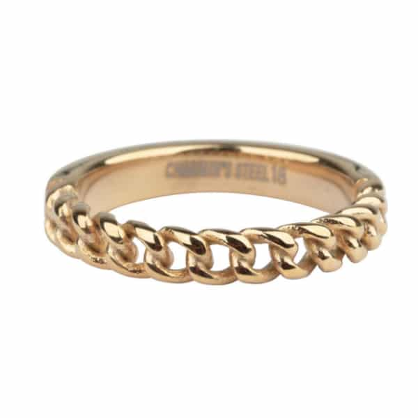 Made by Mila | Ring goud 'Heavy half chain' - Charmin's 1