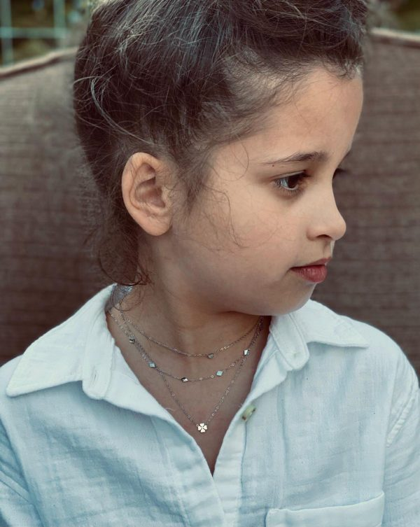Made by Mila | Kids ketting klaver zilver - Go Dutch Label 2