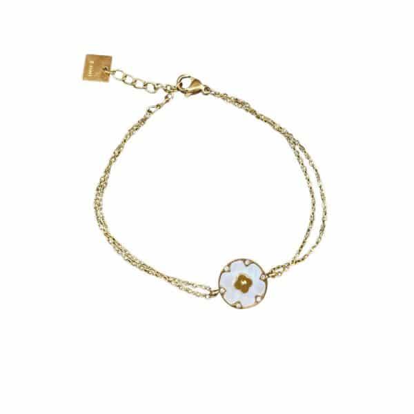 Made by Mila   Armband goud met een pearl round - ZAG Bijoux 1