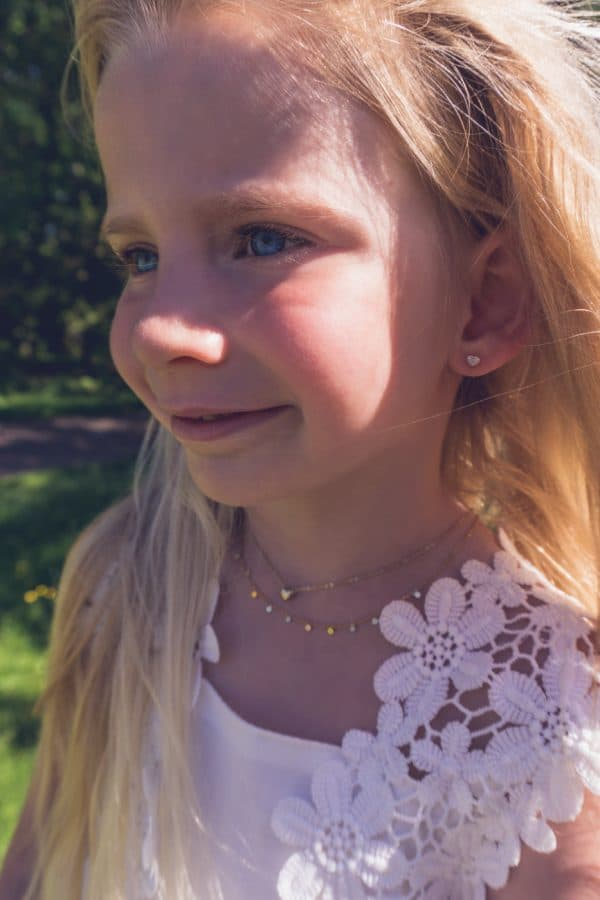 Made by Mila   Kids ketting 3d hartje goud - Go Dutch Label 3