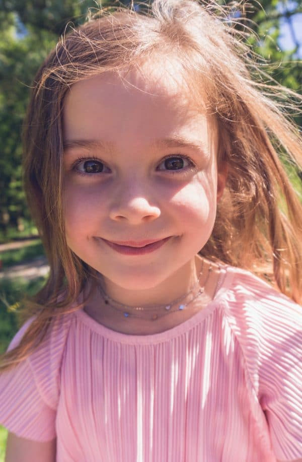 Made by Mila | Kids ketting ruitjes zilver - Go Dutch Label 2