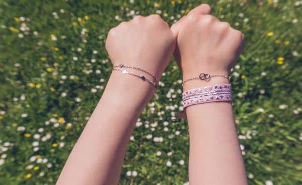 Made by Mila | Kids armband hartje zirkonia zilver - Go Dutch Label 2