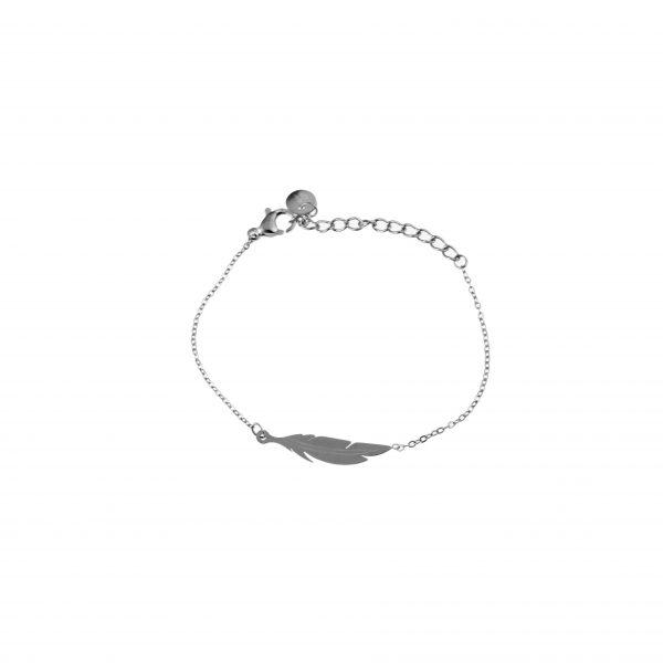 Made by Mila | Kids armband veertje zilver - Go Dutch Label 1