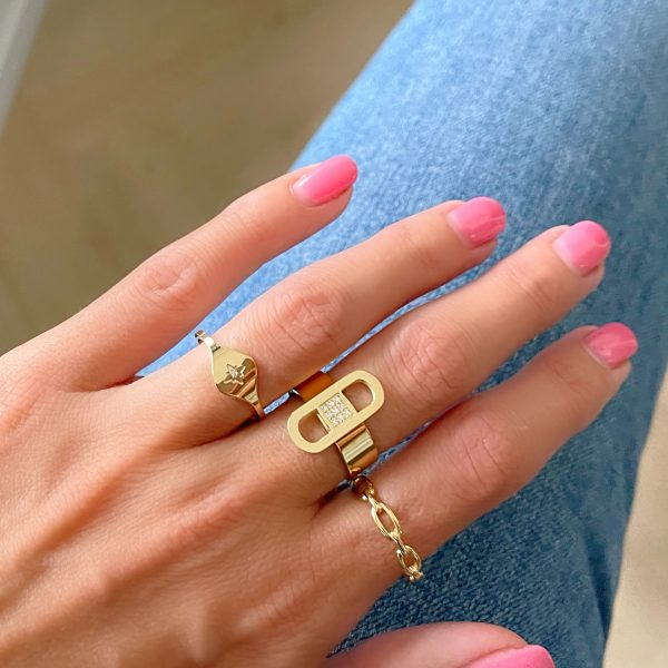 Made by Mila | Verstelbare ring schakels- ZAG Bijoux 2