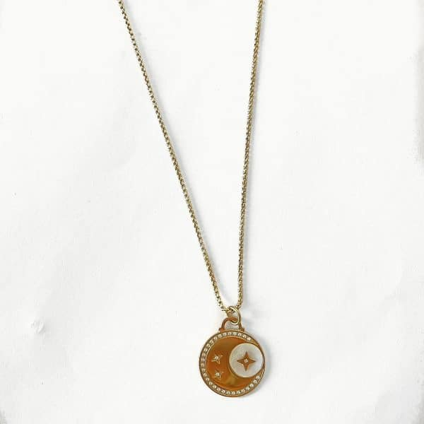 Made by Mila   Ketting amulet stars & moon lang - ZAG Bijoux 1