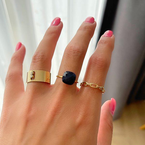 Made by Mila | Verstelbare brede ring zirkonia- ZAG Bijoux 2
