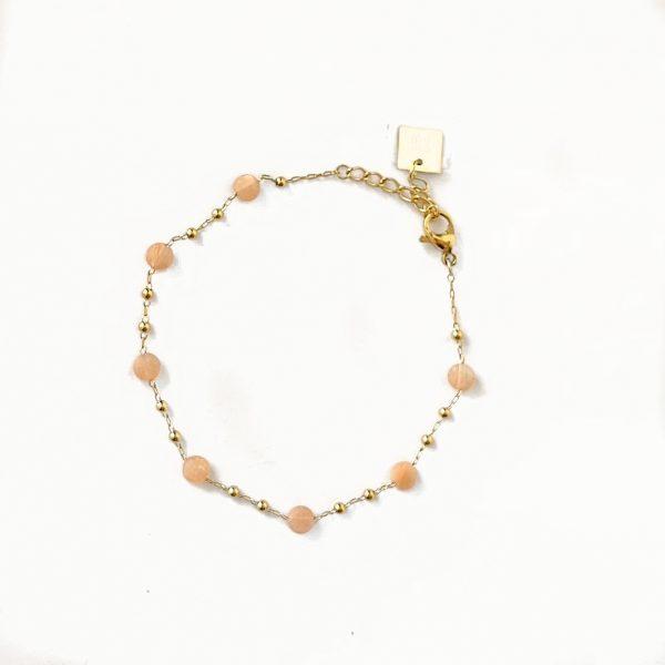 Made by Mila | Armband roze quartz - ZAG Bijoux 1