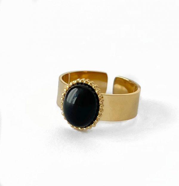 Made by Mila | Verstelbare gouden apatite ring- ZAG Bijoux 1