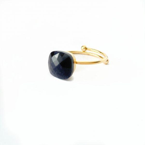 Made by Mila | Verstelbare ring paars steen- ZAG Bijoux 1