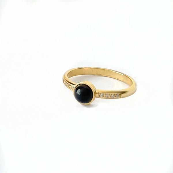 Made by Mila   Zirkonia ring zwart- ZAG Bijoux 1