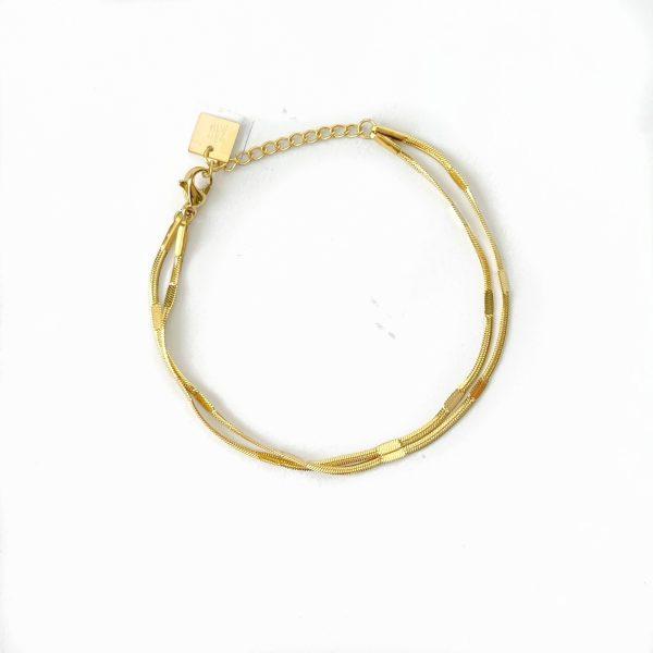 Made by Mila | Armband goud dubbel- ZAG Bijoux 1