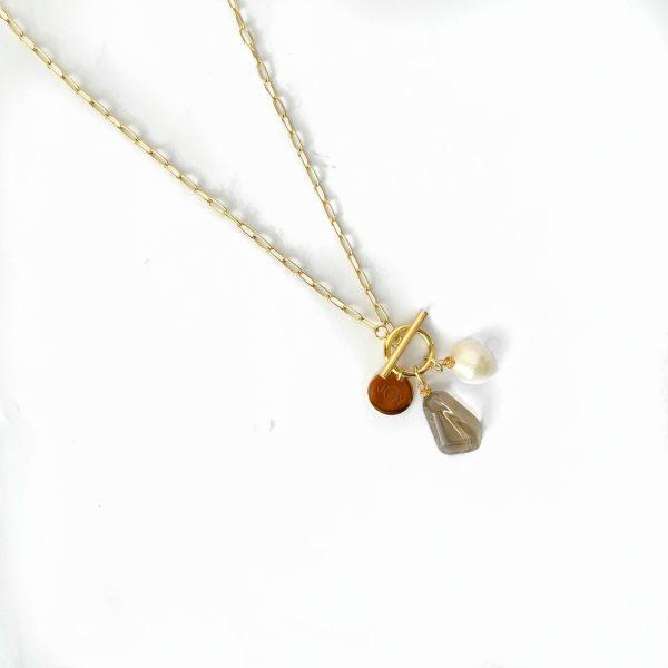 Made by Mila | Ketting amulet verstelbaar stones - ZAG Bijoux 1