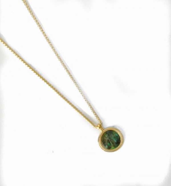 Made by Mila   Ketting amulet green gold - ZAG Bijoux 1