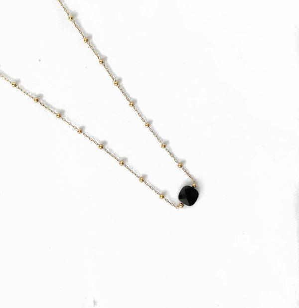 Made by Mila | Ketting zwart goud - ZAG Bijoux 1
