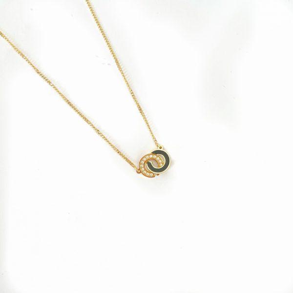 Made by Mila   Ketting zwart goud schakel - ZAG Bijoux 1
