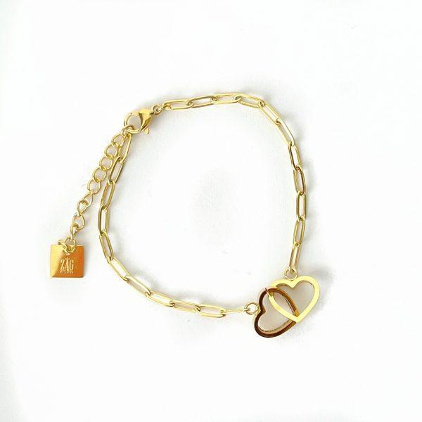 Made by Mila | Armband goud hartjes zirkonia- ZAG Bijoux 1