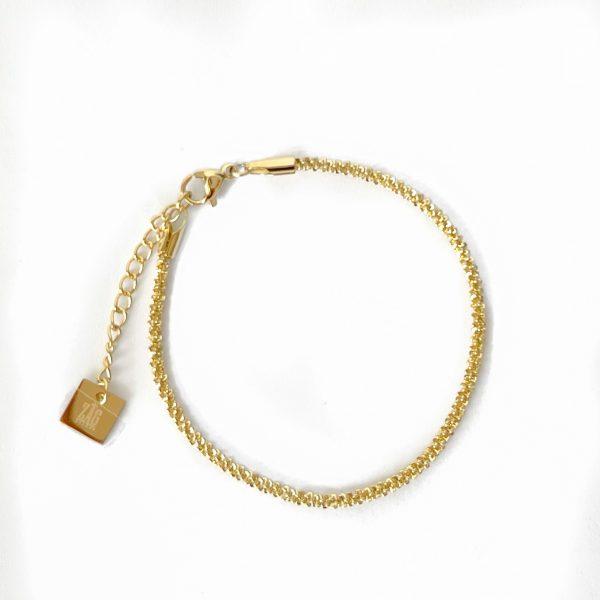 Made by Mila | Armband goud gedraaid- ZAG Bijoux 1