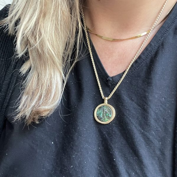 Made by Mila   Ketting amulet green gold - ZAG Bijoux 2