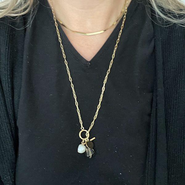 Made by Mila | Ketting amulet verstelbaar stones - ZAG Bijoux 3