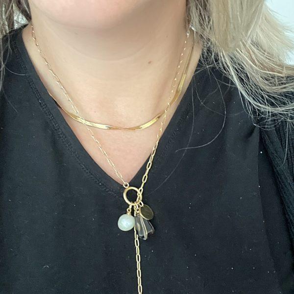 Made by Mila | Ketting amulet verstelbaar stones - ZAG Bijoux 4