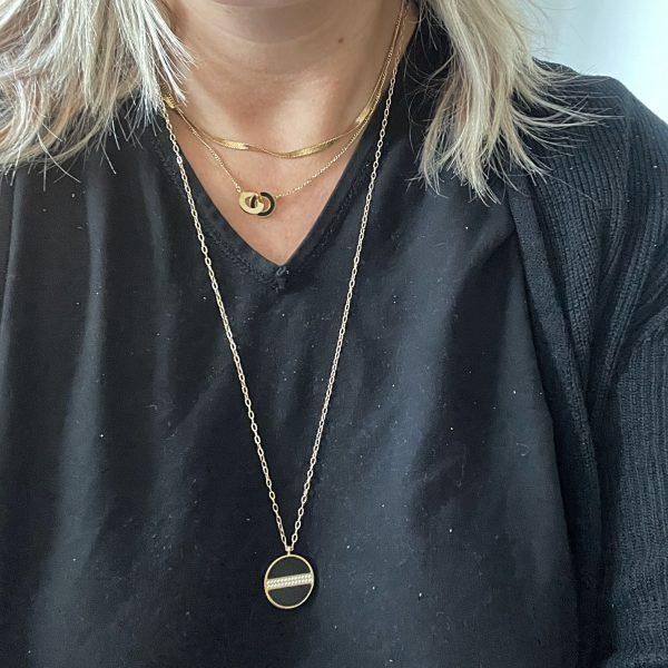 Made by Mila   Ketting amulet shiny onyx - ZAG Bijoux 3
