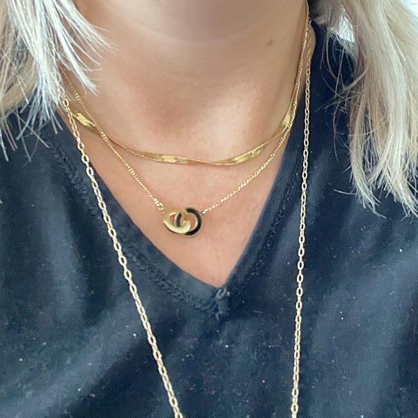 Made by Mila   Ketting zwart goud schakel - ZAG Bijoux 2