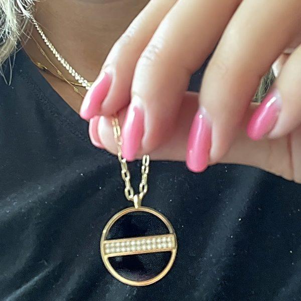 Made by Mila   Ketting amulet shiny onyx - ZAG Bijoux 2